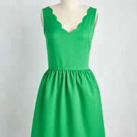 Reliably Blithe Dress in Clover | Mod Retro Vintage Dresses | ModCloth.com