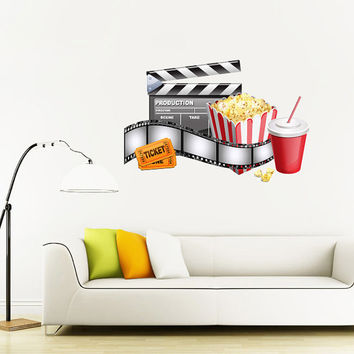 Fulcolor Wall Decal Vinyl Sticker Decals Art Decor Design Cinema Camera Photofilm Movies Film Office Dorm Bedroom Chair (col8)