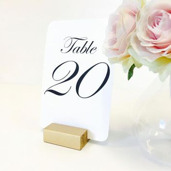 Table Number Holder, 2 inch, Set of 10, For Weddings, Restaurants, Banquets, GOLD, by Gallery360Designs