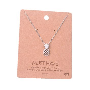 Must Have-Pineapple Necklace, Silver