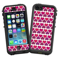 """Hearts White """"Protective Decal Skin"""" for LifeProof nuud iPhone 5 Case"""