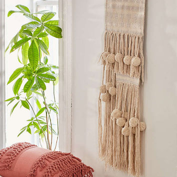 Polly Pom-Pom Wall Hanging - Urban Outfitters