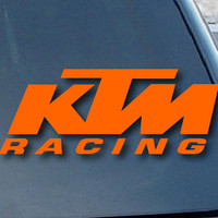 "KTM Racing Car Window Vinyl Decal Sticker 8"" Wide (Color: Orange)"