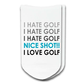 I Hate I Love Golf Socks - Sold by the Pair