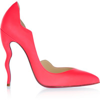 Christian Louboutin - Dalida 120 neon leather pumps