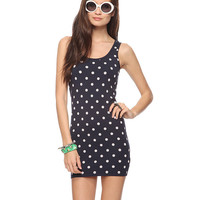 Bow Back Dotted Dress