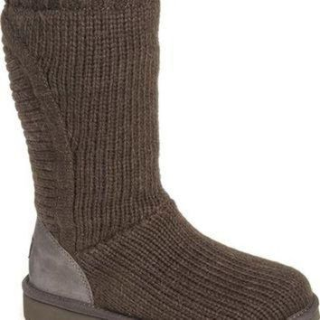 DCCK8X2 UGG? 'Capra' Ribbed Knit Genuine Shearling Lined Boot (Women) | Nordstrom