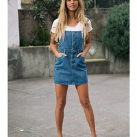 MAUDE OVERALLS - Denim - DRESSES - SHOP NEW