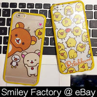 San-x Rilakkuma Style Full TPU Bumper Frame Cover Case for iPhone 5/5s 6/6 plus