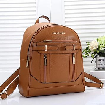 Michael Kors MK Woman Men Fashion Leather Backpack Daypack Bookbag