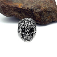 Shiny Jewelry Gift New Arrival Vintage Titanium Accessory Skull Punk Strong Character Stylish Men Ring [6526800195]