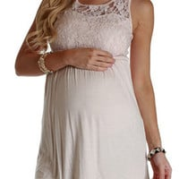 Pale-Pink-Lace-Accent-Maternity-Tank-Top