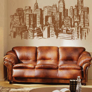 New York Wall Decals New York Wall Decals city wall decals Cityscape New York Wall Decals kik2412