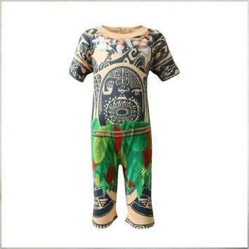 BFUSTYLE 2018 Maui Moana Printed Boys Swimsuit One Piece Summer Kids Surf Swimming Suit Children Beachwear Swimming Clothes