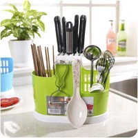 Multifunction  kitchen Tableware Shelving Rack Dish Rack Drain Chopsticks Rack Storage Rack Creative Practical Plastic Cutlery