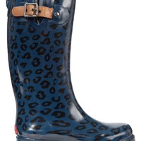 Chooka Top Solid Leopard Rain Boots
