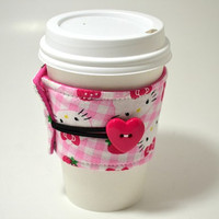 Hello Kitty Coffee Cozy / Coffee Sleeve