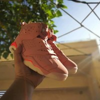[Free Shipping ]Nike Air Jordan Retro 6 NRG Gatorade Pink Basketball Sneaker
