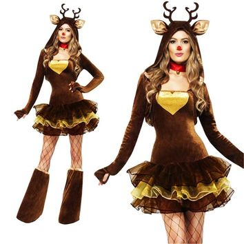 new Sexy Elk Halloween Dress Roleplaying Xmas Costumes Service On Eve Performance Christmas Party Clothing sexy  costumesKawaii Pokemon go  AT_89_9