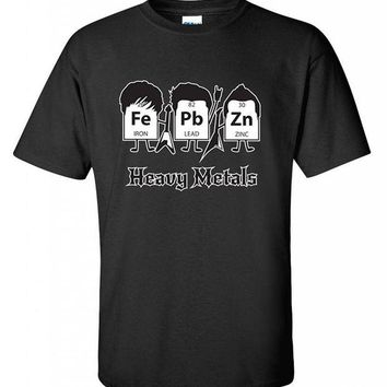 DCCKV2S Heavy Metals Periodic Table Science Graphic Band Music Cool Very Funny T Shirt New Fashion for Men Short Sleeve Top Tee T-Shirt
