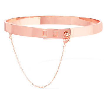 Eddie Borgo - Safety Chain rose gold-plated choker