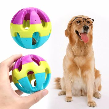 ABS Plastic Pet Dog's Toys Happy Jingle Bell Ball Chewing Ball Toy for Dogs Cats Funny Pet Interactive Toy Dog Supplies