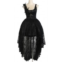 Asymetric lace elegant gothic lolita dress - Punk Rave