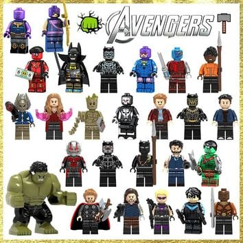 TMGT Single Sale Super Hero Infinity War Thanos Thor Scarlet Bruce Banner Star Lord Nebula Building Blocks Toy Gift For Children