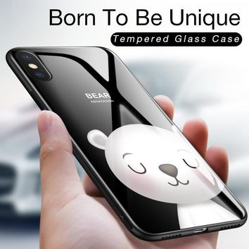 Luxury Glass Case For iPhone X