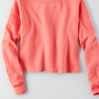 AEO Women's Cropped Crew Sweatshirt