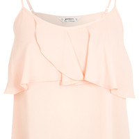 Petites Peach Frill Cami - Summer Pastels - Clothing