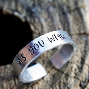 As You Wish Hand Stamped Ring, The Princess Bride, Westley, Princess  Buttercup, Valentine's Day, Gift for Her, Gift for Him, Husband, Wife