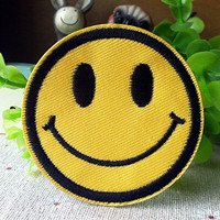 Happy Face Smile iron on patch E0259