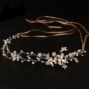 Handmade Bridal Hair Accessories New Tiara Head Piece crystal head piece Women Girls rhinestone pageant tiaras and crowns