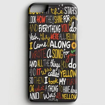 Coldplay Yellow iPhone 8 Case
