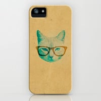 Hipster Cat iPhone & iPod Case by hyakume