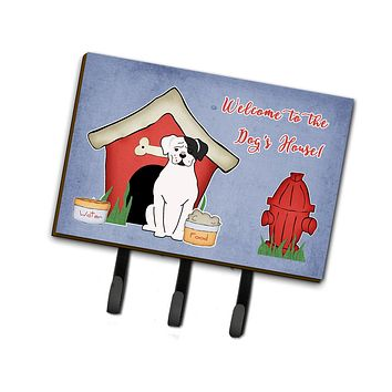 Dog House Collection White Boxer Cooper Leash or Key Holder