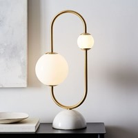 Framed Sphere Table Lamp