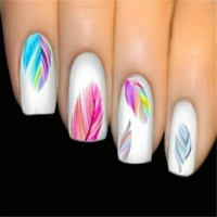 1 sheet Nailmad  Stickers Feather Nail Art 3D Sticker Dream Cather Nail Stickers Water Transfer Stickers
