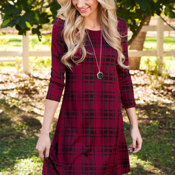 Jameson Plaid Dress