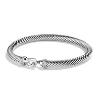 Cable Buckle Bracelet with Diamonds - David Yurman