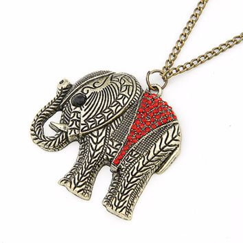 A Charming RED ELEPHANT Necklace