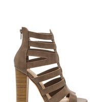 Front Lines Chunky Faux Leather Heels