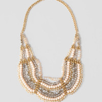 Savoie Scalloped Beaded Necklace