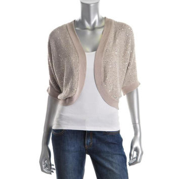 INC Womens Knit Sequined Cardigan Sweater