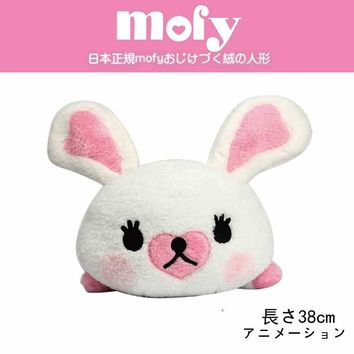 38CM Beanie Boos Mofy rabbit plush toys Cotton Soft Comfortable White Rabbit Sleeping Doll Girl friend child birthday party gift