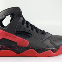 Nike Men's Air Flight Huarache PRM QS Black Red -  Love/Hate