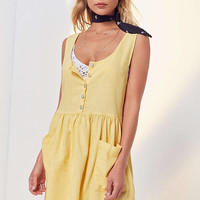 Cooperative Oversized Linen Babydoll Dress   Urban Outfitters