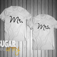 Mrs and Mr shirts for couples, matching shirts for couples, shirts for husband and wife, wife husband shirts, matching shirts