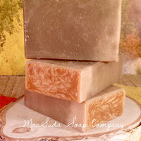 GOLDEN HONEY and ALMOND, homemade natural organic soap, oatmeal and goat milk, Handmade Natural Soap Organic Moisturizing